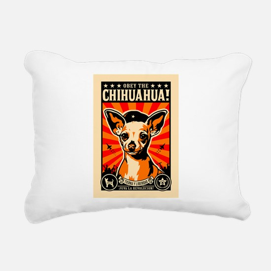 Chihuahua Revolution - Rectangular Canvas Pillow