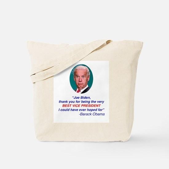 Joe Biden Best VP Collectible Tote Bag