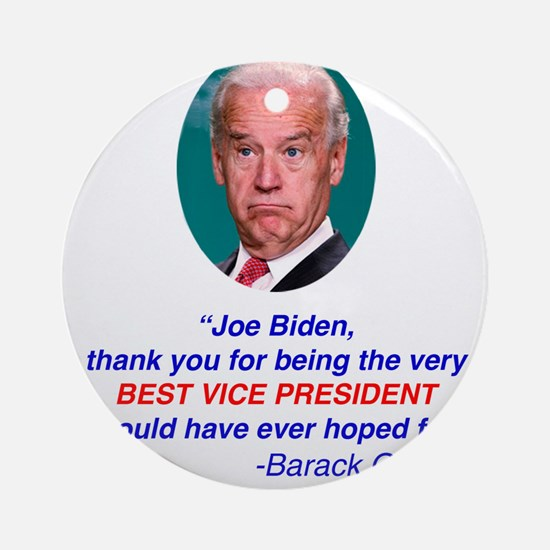 Joe Biden Best VP Collectible Ornament (Round)