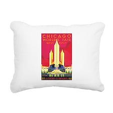 Chicago World Fair 1933 Rectangular Canvas Pillow