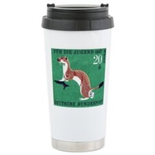 Weasel 1967 German Postage Stamp Thermos Mug