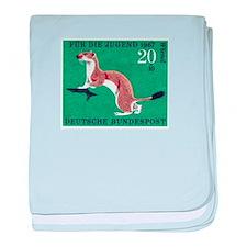 Weasel 1967 German Postage Stamp baby blanket