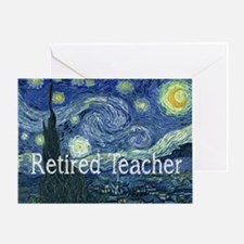 Retired TEacher Van Gogh Blanket.PNG Greeting Card