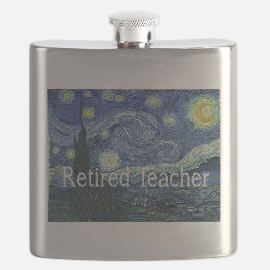 Retired TEacher Van Gogh Blanket.PNG Flask