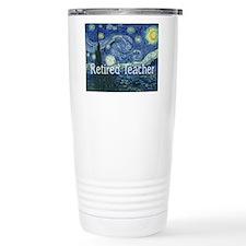 Retired TEacher Van Gogh Blanket.PNG Travel Mug