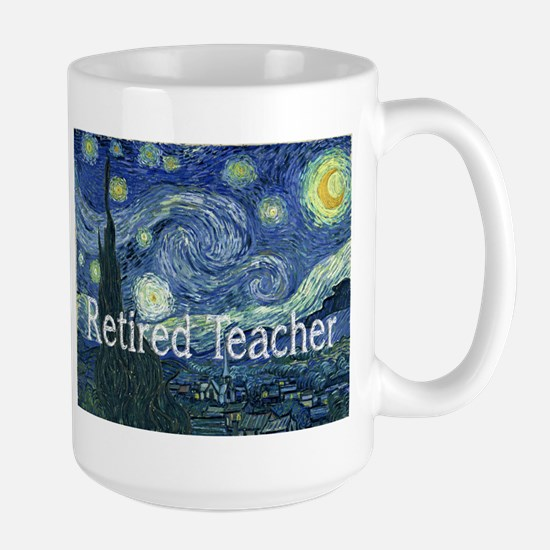 Retired TEacher Van Gogh Blanket.PNG Large Mug