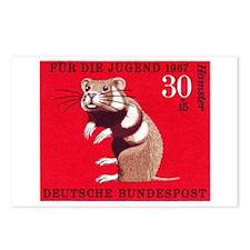 Hamster 1967 German Postage Stamp Postcards (Packa