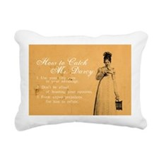 How to Catch Mr. Darcy Rectangular Canvas Pillow