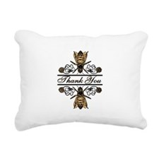 Bees With Clover Rectangular Canvas Pillow
