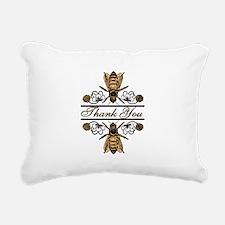 Bees With Clover Rectangular Canvas Pillow