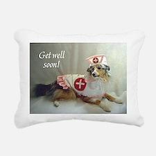 Gell Well Soon Sheltie Rectangular Canvas Pillow