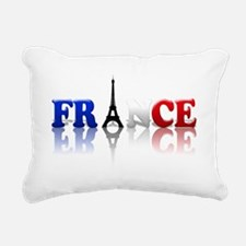 France Tricolore and Eiffel T Rectangular Canvas P