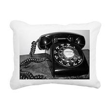 Rotary Dial Telephone Rectangular Canvas Pillow