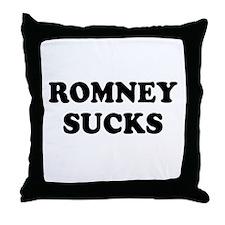 Romney Sucks Throw Pillow
