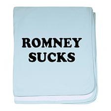 Romney Sucks baby blanket