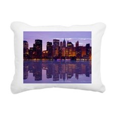 Manhattan Cityscape Reflectio Rectangular Canvas P