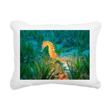 Seahorse Rectangular Canvas Pillow