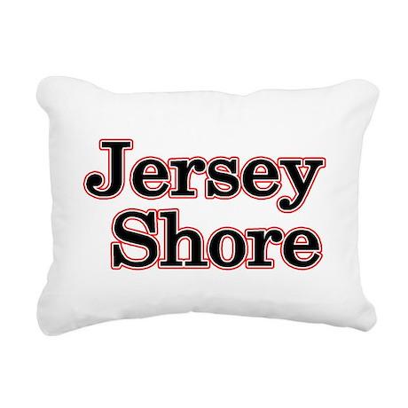 Jersey Shore Red Rectangular Canvas Pillow