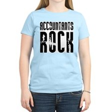 Accountants Rock Women's Pink T-Shirt