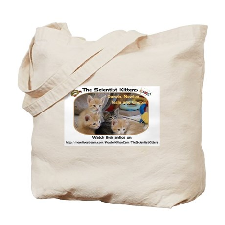 The Scientist Kittens Tote Bag
