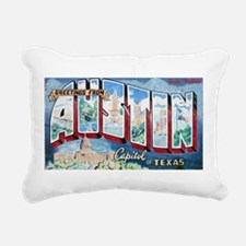 Greetings from Austin Rectangular Canvas Pillow