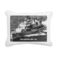 USS WILTSIE Rectangular Canvas Pillow