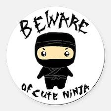 Cute Ninja Round Car Magnet