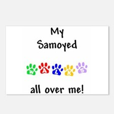 Samoyed Walks Postcards (Package of 8)