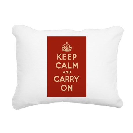 Classic Red Rectangular Canvas Pillow