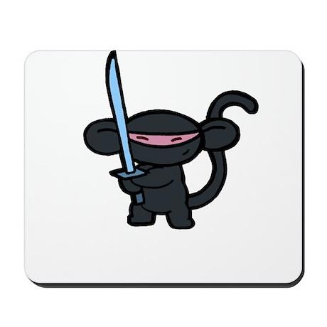 Black Ninja Minky Mousepad
