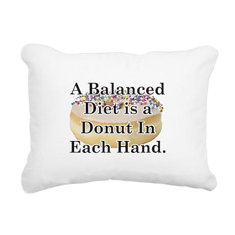 Balanced Donut Rectangular Canvas Pillow