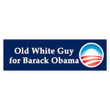 Old White Guy for Barack Obama Sticker (Bumper)
