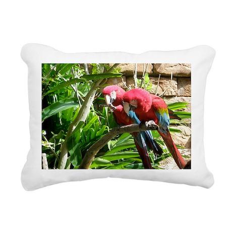 Chatting Birds Rectangular Canvas Pillow