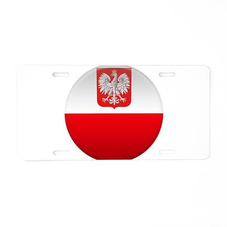 Polish Button Aluminum License Plate