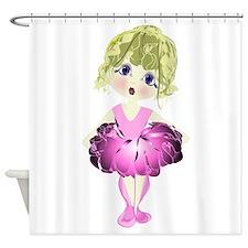 Ballerina in Pink Tutu art Shower Curtain