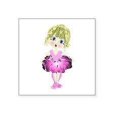 """Ballerina in Pink Tutu art Square Sticker 3"""""""