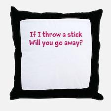 Throw a Stick Throw Pillow