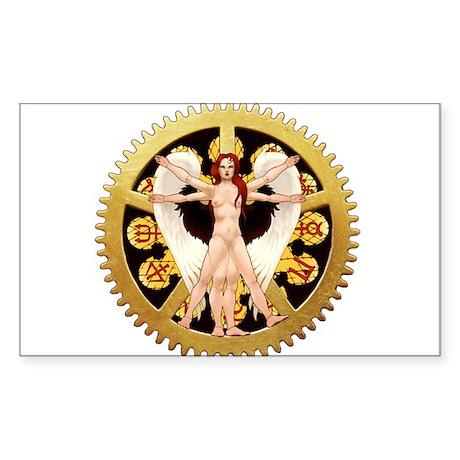 Vitruvian Angel Sticker (Rectangle)