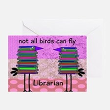 librarian not all birds can fly PINK.PNG Greeting