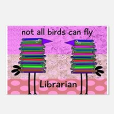librarian not all birds can fly PINK.PNG Postcards