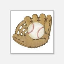 "Baseball Mitt Square Sticker 3"" x 3"""