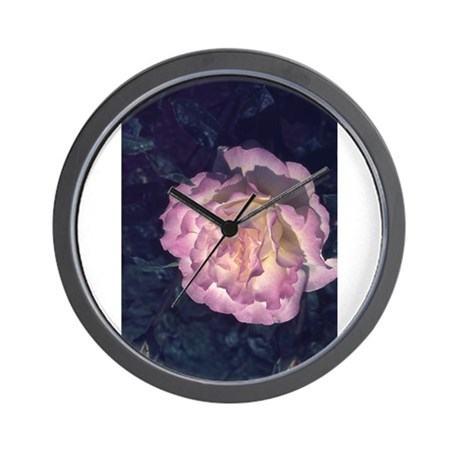 Sterling Silver Rose Wall Clock