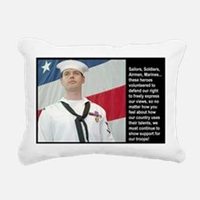 Support Our Troops Rectangular Canvas Pillow
