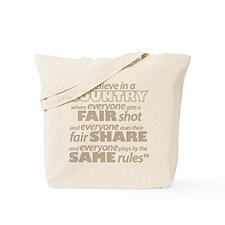 Everyone gets a Fair Shot Tote Bag