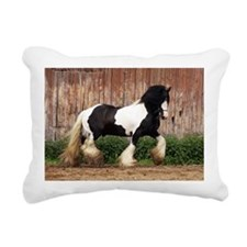 Cute Gypsy vanner horse Rectangular Canvas Pillow