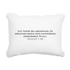 Librarians / Genesis Rectangular Canvas Pillow