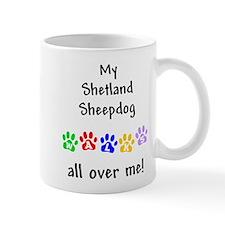 Shetland Sheepdog Walks Mug