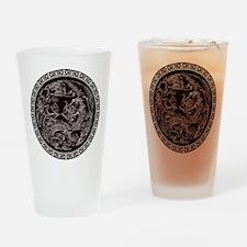 Oriental Art Drinking Glass