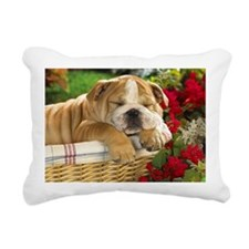 ENGLISH BULLDOG PUPPY Rectangular Canvas Pillow