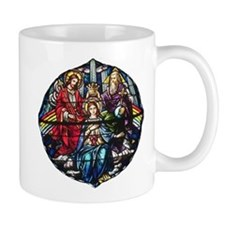 The Crowning of Mary in stained glass Mug